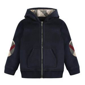 2019 Fashion Winter Baby Boys Zipper Jacket Designer Brand Kids Clothing Outdoor Sports Thick Coat Children Classic Plaid Warm Outwear Tops