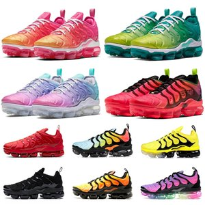 Wholesale mens cushion trainers for sale - Group buy TOP QUALITY New tn plus BIG US SIZE cushions sports sneakers mens womens running shoes all black white trainers EUR