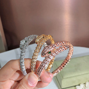 Wholesale twinkle silver for sale - Group buy Golden Full drill snake Lady Bracelet Personality fashion Trend Women s Bracelets Twinkle Dance party Gift giving noble
