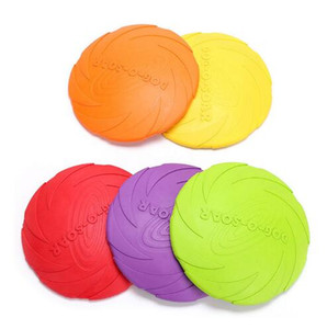 Wholesale Silicone Dog Frisbee Bite Resistant Pet Dog Bowls and Feeders Soft Training Pet Flying Disc for large dogs Outdoor Pet Toy Rubber Fetch
