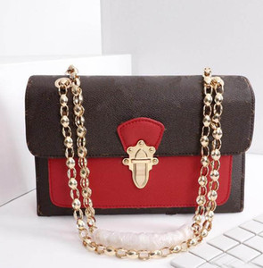 Wholesale designed tote bag for sale - Group buy 2019 new design women chain messenger bag victoire shoulder bag genuine leather pathcwork two tone crossbody bags flap handbag pochette tote