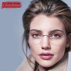 Wholesale Chashma New Brand Titanium Rimless Eyeglasses Frames Ultra Light Myopia Round Vintage Glasses Optical Frame for Male and Women