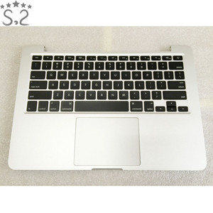 Wholesale Genuine A1502 Palmrest Housing Backlight Keyboard For Macbook Pro Retina Topcase Late Mid quot A1502 US Keyboard