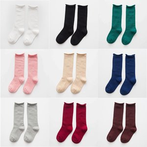 Wholesale Kids Unisex Socks 8+ Candy Color Middle Socks Cotton Solid Sock Breathable Edge Curl Boy Girls Autumn Kids Brief Socks 1-12T 04