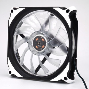 Wholesale Quiet mm DC V pin LED effects Clear Computer Case Fan For Radiator Mod