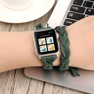 Wholesale For mm mm Apple Smart Watches Strap Belt Bracelet Leather Hand woven Strap Elegant and Refined Comfortable Wristbands Buckle Accessories