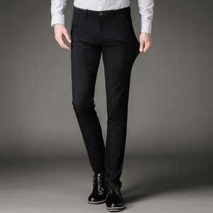 Men Suit Pants Men's Black Slim Fit Dress Pants Office Trousers Big Size Business Classic Men's Office Perfume Masculino