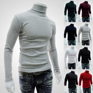Wholesale Winter Autumn Mens Turtleneck Sweaters Black Pullovers Clothing For Man Cotton Knitted Sweater Male Sweaters Pull Hombre XXL