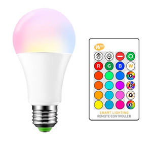 Wholesale W28 RGBW LED Light Bulbs Infrared Remote Control Dimming Color Changing Bulb E27 Atmosphere colorful Lamp