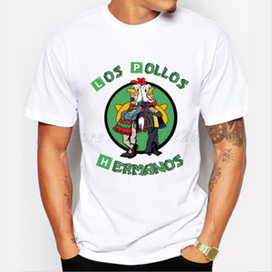 Wholesale 2018 Men S Fashion Breaking Bad Shirt Los Pollos Hermanos T Shirt Chicken Brothers Short Sleeve Tee Hipster Hot Sale Tops T shirt
