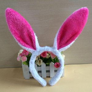 Wholesale Plush Bunny Ears Headband Cute Rabbit Ears Hairbands for Easter Party Favor Decoration Headdress Costume Cosplay Accessory in stock