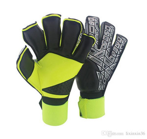 fußballmarkenlogos großhandel-Neu A Qualität Marke AD Logo Professionelle Fußball Torwart Handschuhe Finger Ptotection Top Latex Goalie Handschuhe für Männer Alle Top Latex