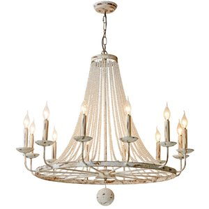 Wholesale ancient dining room lamp resale online - French Candles Rusty Retro Crystal Pendant Lamp American Style Village Ancient Iron Art LOFT Pendant Light For Dining Room