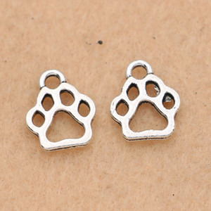 Wholesale paw charm Tibetan Silver Plated Bear Dog Paw Charms Pendants Jewelry Making Bracelet Diy Jewelry Findings x11mm