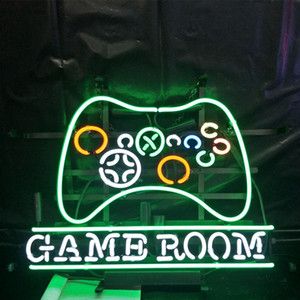 Wholesale Factory Custom GAME ROOM Led Glass Tube Neon Signs Lamp Lights Advertising Display Bar Beer Decoration Sign Metal Frame