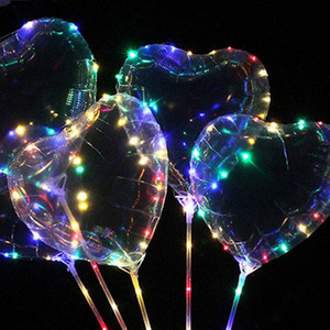 Wholesale Led Party Flash Bright Balloons Hand Held Wave Ball Ins Balloon Lights Night Market Led Festive Party Supplies