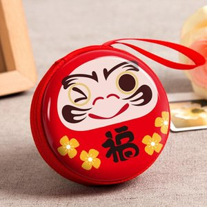 Wholesale New Christmas Decoration Creative Round Tinplate Small Coin Purse Fashion Cute Small Wallet Children s Gift Candy Box Toys