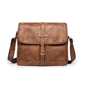 Wholesale men leather briefcases for sale - Group buy Briefcase Men Soft Leather Shoulder Travel Bag Business office Leather laptop bag Cover Messenger Bags