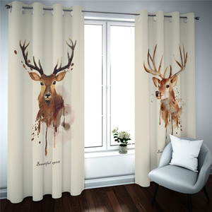 Wholesale bedrooms curtains resale online - animal Curtains European Style Curtain Bedroom Living Room Window treatments D Drapes