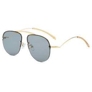 Wholesale personalized sunglasses resale online - hot sale personalized frameless sunglasses color metal enamel glasses men and women with the same sunglasses sunglasses