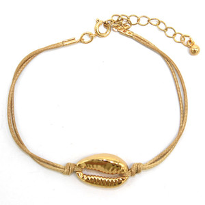 Wholesale candy charms resale online - Alloy Shell Bracelet Handmade Charm Bangle Bohemian Fashion Accessories Girl Candy Color Bracelets Men Trend Braided Beach Jewelry for Women