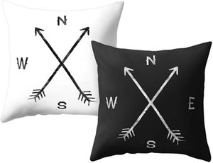 Wholesale arrow pillow covers resale online - Double sided Pillowcase Northeast Arrow Compass Home Sofa Decoration Outdoor Cushion Cover Throw Pillowcase Pillow Case