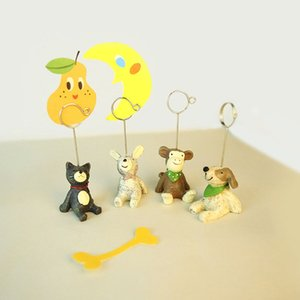 Wholesale 8 Style Mini Resin Animal Shaped Table Number Holder Place Card Clip Wedding Birthday Party Decoration