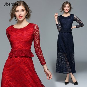Wholesale How Big Is A Woman s Sexy Lace Casual Dress Long Skirt Pachevo Ankle High Quality Summer Dress Or Collar SH190724