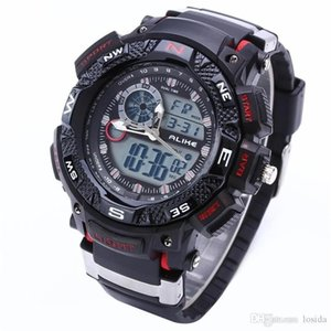 Wholesale Alike Big Dial Digital Analog G Shock Watch Water Resistant Date Calendar LED Sports Rubber Men s Sport Watches