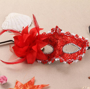 Wholesale 12 Designs Flower Halloween Mask Sexy Masquerade Masks Dance Party Bar Venice Princess Mask High grade Rose Party Mask Supplies