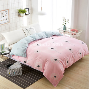 Wholesale 1Pc Pink Dandelion Duvet Cover A B Side Flower Quilt Cover for Adult Kids Bedding Gift Twin Full Queen King Size Home Textile