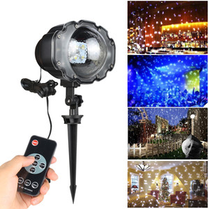 Wholesale new LED Snowfall Laser Projector IP65 Waterproof Outdoor Christmas Garden Landscape Light Wedding Party Laser Stage Lawn lamp stage Lights