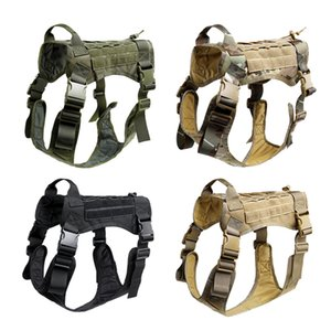 Wholesale Tactical No Pull Dog Harness K9 Service Dog Collars Hunting Molle Vest With Law Working Canine Harness