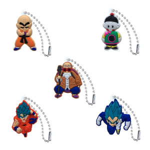Dragon Ball Action Figure High Quality PVC Keychain Key Ring Anime Key Chain Fashion Accessories Packed Kawaii Party Favors Kid Gift