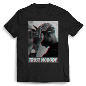 Wholesale Tupac pac Shakur Trust Nobody Hip Hop Man Woman T Shirt funny Cotton t shirt
