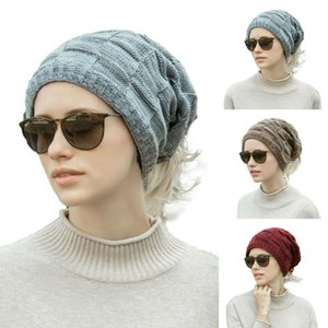 Wholesale Mens Ladies Knitted Woolly Winter Oversized Slouch Beanie Hat Warm Hat