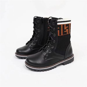 Wholesale Kids Shoes Designer Brand Genuine Leather Toddler Shoes Girls Boots Luxury Shoes Toddler to Youth Size