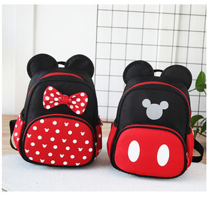 Wholesale New mouse backpack cartoon children s bag Mickey bowSchool bags kindergarten backpack offload boy girl backpack bag