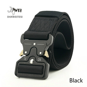 Men's Belts New Quick Release Buckle Outdoor Safety Outer Belts Military Training Outer Belt Nylon Tactical Belt CS Training Belt