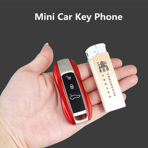 Wholesale Unlocked Mini Cute Car Key Mobile Phone Luxury Dual Sim Magic Voice Bluetooth Dialer Support MP3 Recorder cartoon Children Cellphone