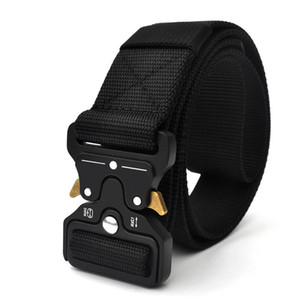 Wholesale High Quality Tactical Belt Nylon Webbing Riggers Waist Belt Outdoor Adjustable Training Belt Heavy Duty Metal Quick Release Buckle