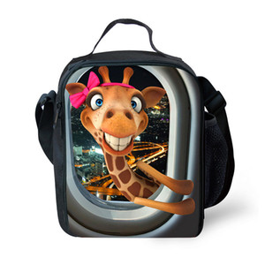 Wholesale Cool2019 Cartoon Lovely Portable Giraffe House Lizard Originality Waterproof Children Food Package