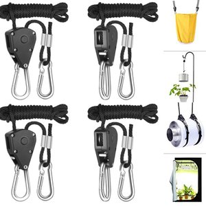 Wholesale LED Lights Plant Hanging Hook Lifting Slings Pulley Rope Hanger Lifting lbs Set Indoor Outdoor Hanger