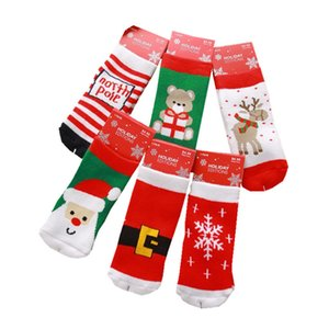 Wholesale 1 t Cotton Cute Christmas Design Boy Girl Socks Slip resistant Cartoon Baby Children s Christmas Socks Style