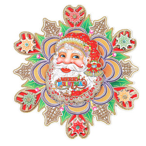 Wholesale Christmas DIY Santa Claus New Year Gift Kids Sticker Door Wall Hanging Kit Christmas Decorations for Home