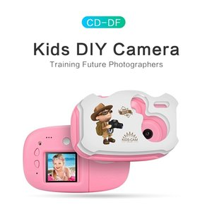 1.44 Inch Mini Children's Digital Cartoon Camera With DIY Stickers Camera with Multiple Language Support SD Card Children's Toy