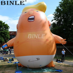 Wholesale Customized outdoor giant standing cartoon inflatable trump baby inflatable advertising character for event parade decoration