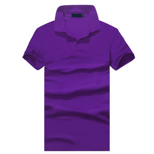 Top clothing New Men Polo Shirt Men Small Horse Embroidery Business & Casual solid male polo shirt Short Sleeve breathable polo shirt
