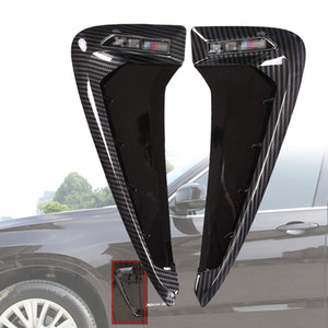 Wholesale bmw fender for sale - Group buy Car Side Fender Air Vent Decal Decoration sticker Cover Trim For BMW X5 F15 X5M F85 Auto Styling