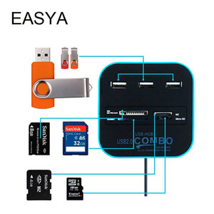 Wholesale EASYA Micro USB Hub Ports TF SD Card Reader Slot High Speed USB Combo All In One Splitter for Laptop Desktop Use
